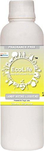 ECOLIFE 100% Natural Laundry Whitener Brightener, Fragrance Free (200ml)