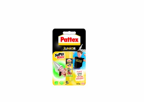 Pattex Junior Super stick Tube de colle Transparent - Super stick 11g - lot de 12