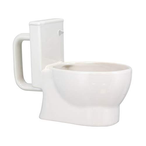 Paladone Lustige 3D Tasse Toilette Kloschüssel - Kaffeetasse, Keramik, weiß, 320 ml
