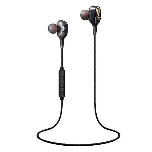 SO-buts XT21 HiFi-In-Ear-Kopfhörer,Dual dynamisches Bluetooth Headset,Schwere Bässe Mini Stereo HiFi Wireless Headset,Sports Kopfhörer,für Smartphones,Samsung Galaxy, HTC,Huawei (Schwarz)