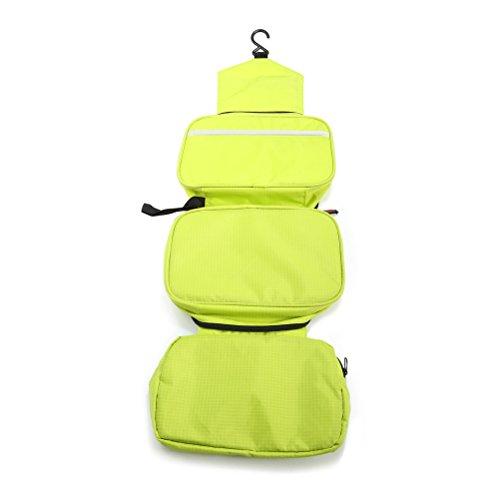 OULII 3L viaje al aire libre almacenamiento bolsa maquillaje lavado bolsa con gancho (verde)