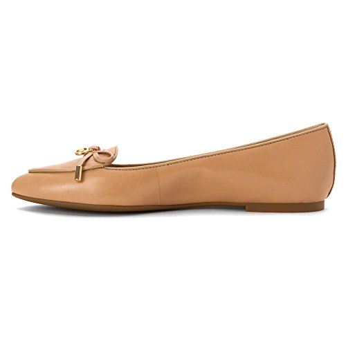 Michael Michael Kors Nancy Flat Cuir Chaussure Plate Nude