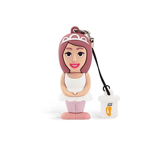Professional usb ballerina donna, simpatiche chiavette usb flash drive 2.0 memory stick archiviazione dati, portachiavi, pendrive 8 gb
