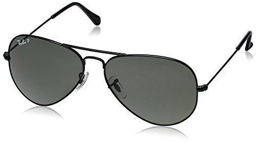 Rayban Standard Aviator unisex Sunglasses (RB3025|58 millimeters|Dark Grey)