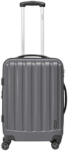 Packenger Velvet Koffer, Trolley, Hartschale  L in Grau.   50x34x23cm