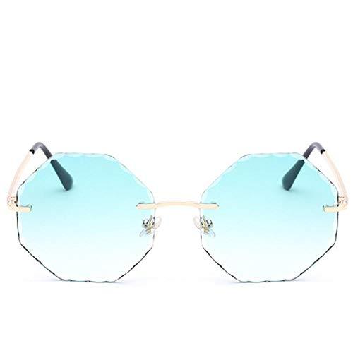 Hjyi Großer Rahmen Schneide polierte achteckige Form Sonnenbrillen für Damen Polarisierte Aluminiumlegierung Rahmen Sonnenbrille Mode Fahren Sonnenbrillen UV400 Gläser