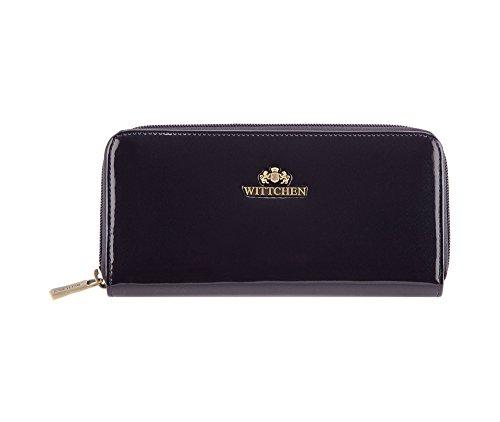 WITTCHEN Schicke Geldbörse Damen/Geldbeutel Portemonnaie aus Lackleder|19x9cm 25-1-393-N - Schicke Geldbörse
