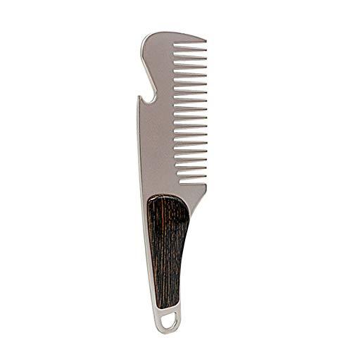 Bescita Soin des Cheveux en acier inoxydable Moustache Peigne pour homme Care Peut être utilisée comme un Décapsuleur