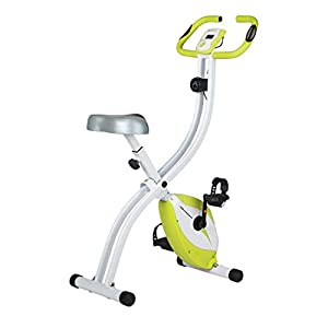 Ultrasport F-Bike Home Trainer 150 with hand pulse sensors, Exercise Bike with Training Computer and Hand Pulse Sensors, Collapsible, Orange