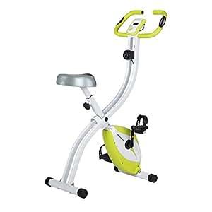 Ultrasport Heimtrainer F-Bike 150 mit Handpuls-Sensoren, Fitnessfahrrad mit Trainingscomputer und Handpulssensoren, klappbar, Orange