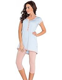 dn-nightwear Damen Stillpyjama