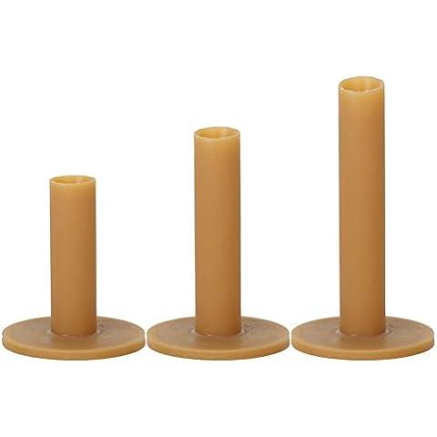 LEORX 3 pezzi, 60 mm, 70 mm 80 mm, motivo: tee in gomma, colore: marrone