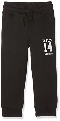 adidas Kinder Kinder Hosen und Leggings Logo Essentials Crew Trainingshose Kinder, schwarz / weiß, 92, AB1669 (Trainingshose Crew J)