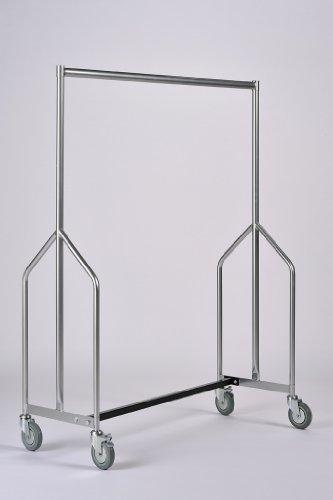 Commercial Garment Rack (Commercial Hangers ZRG12 Kleiderstange, belastbar Epoxidlackierung, silberfarben)