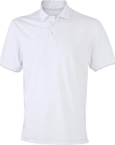 Hochwertiges Herren Poloshirt mit Kontraststreifen White