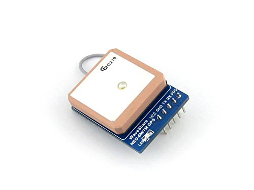 Waveshare GPS NEO-7M-C Serial UART GPS Module with High-Gain Active Antenna IPX interface GPS Positioning Module Kits TTL Level Straight/vertical Pinheader Gps-antenne Kit