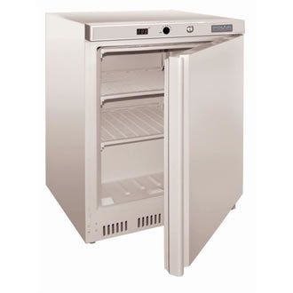 Polar bajo mesa congelador comercial blanco 140L pantalla