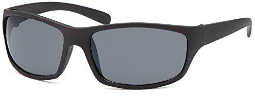 SAMBORA® A20005-1 Unisex Sonnenbrille UV400 Schutz Wayfarer Style - Rahmen: Schwarz Glas: Dunkel