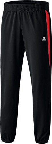 erima Erwachsene Anzug Premium One Hose, Schwarz/Rot, S, 110428