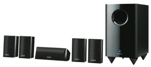 Onkyo SKS HT 528 5.1 Lautsprechersystem (Front 120 Watt, Center 120 Watt, aktiver Subwoofer 150 Watt) schwarz