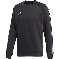 adidas Herren Core18 Sweat Top, Schwarz/Weiß, Größe L