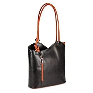 31h8wMeX8qL. SS300  - Bolso italiano de piel Belli,mochila Belli, para mujer, mochila de piel, en diferentes colores, de piel fina, 28 x 28 x…