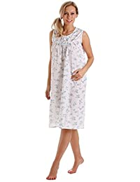 03cfc525e4 Ladies Lady Olga Polycotton Short or Long Sleeve Floral Nightie