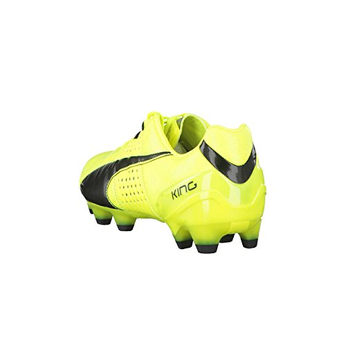 Puma King Ii Fg, Chaussures de football homme safety yellow-black