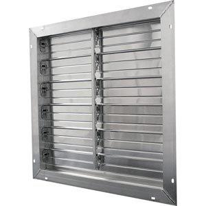 Aluminium Auspuff Jalousien–12x 12