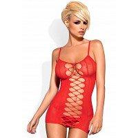 Preisvergleich Produktbild Obsessive Dress D300 Nachtkleid Damen,Größe XL/2XL,Rot