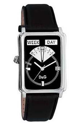D&G Dolce & Gabbana D&G Sea Quest DW0122 - Orologio da polso unisex, cinturino in pelle colore nero