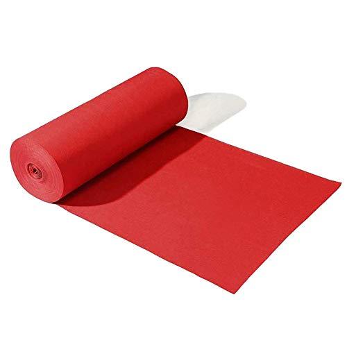 YHEGV Teppich im Freien rote Hochzeit Gang Läufer Teppich Teppiche, Rutschfeste Unterseite, kann für 3-5 Tage verwendet Werden, kann anpassbar (Größe: 1,2 x 100 m) - Hochzeit Gang Rot Läufer