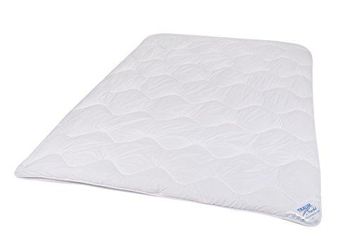 Traumnacht 4-Star 4-Jahreszeiten teilbare Bettdecke, aus Baumwollmischgewebe, 135 x 200 cm, waschbar, weiß