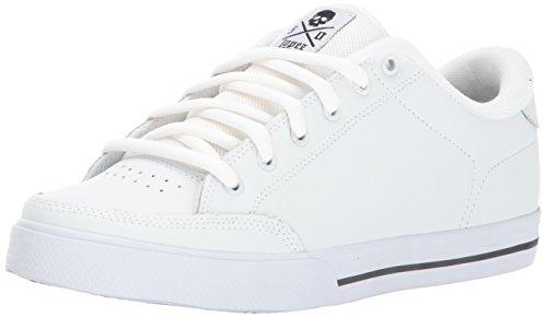 C1RCA Men's AL50 Adrian Lopez Lightweight Insole Skate Shoe, White/Black, 6.0 Medium US