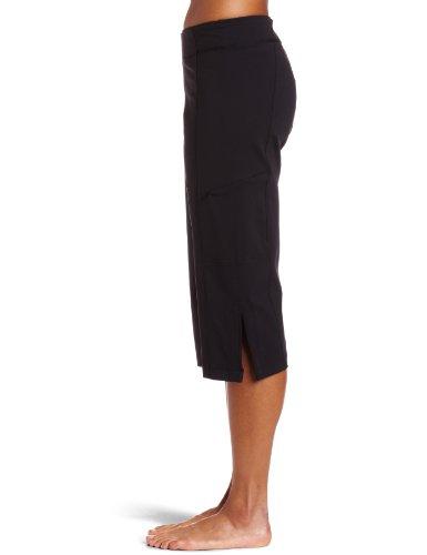 aus Steinzeug Designs Damen Yoga Capri Hose schwarz