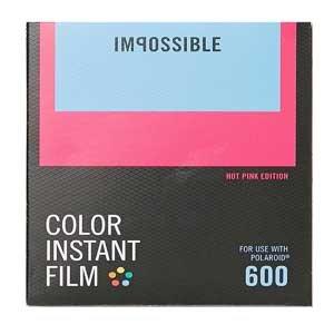 Impossible 4514Pellicule Couleur pour Appareil Photo instantané Polaroid 600et Impossible i-1, Noir