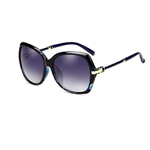 YDS SHOP Sonnenbrillen Damen Big Frame Brillen Driving Fishing Golf Brillen Brillen UV-Schutz 400 (Color : Blue)