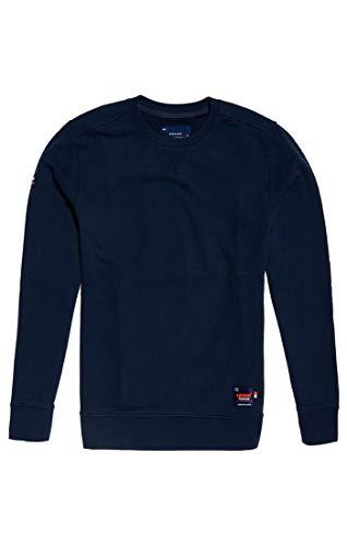 Superdry Herren Dry Originals Crew Sweat Sweatshirt, Blau (Beach Navy Gvx), X-Large (Herstellergröße: XL)