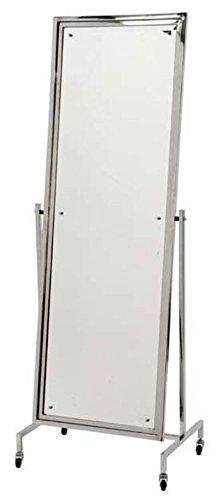 Casa Padrino Luxus Edelstahl Standspiegel 63 x H. 171 cm - Designer Spiegel