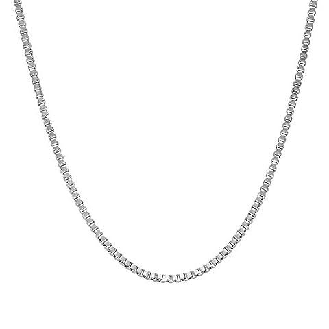 Kleine 1,5mm Edelstahl Box Link Venetian Kette Halskette