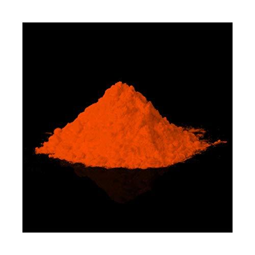 lumentics Premium poudre Pigments - Ultra Forte nachleucht pigments, selbstleuchtende de préchauffage nachleuchtendes, UV Pigment, Night de préchauffage de poudre de couleur Glow, orange