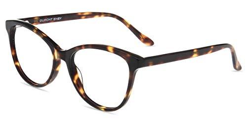 Firmoo Katzenaugen Brille Damen, Blaulichtfilter Computer Brille Katzenaugenförmige Vollrand Arbeitsplatzbrille ohne Sehstärke Anti 400UV und Augenmüdigkeit