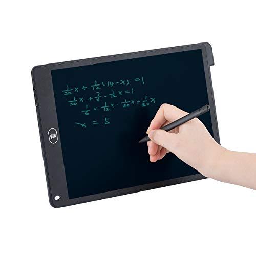 Funkprofi 12 Zoll LCD Grafiktabletts, Schreibtafeln Digitale Schreibplatte Papierlos Elektronisches Writing Tablet mit Anti-Clearance Funktion Geschenk für Kinder Malen Büro Entwurf Notierung Grafik
