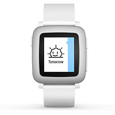 Pebble Time Smartwatch, Bianco