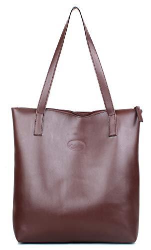 Mammon Women's Stylish Tote Handbag (Tan)