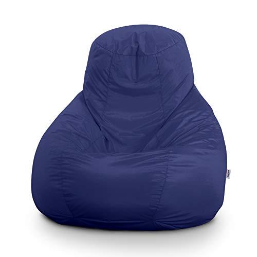 Avalon pouf poltrona sacco gigante bag xxl jive 100x100x110cm made in italy in tessuto antistrappo imbottito colore blu royal