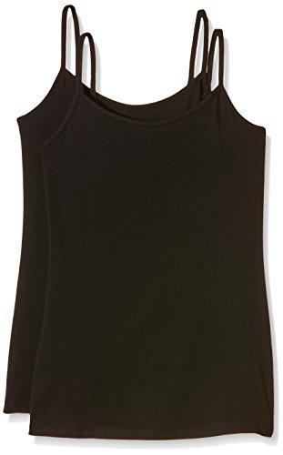 Intimuse Damen Basic Tops, 2er Pack, Schwarz (Schwarz), 40 (Herstellergröße: M)