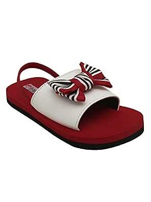 D'chica Girl's Red Sliders-7.5 Kids UK (24 EU) (DCOC5492)