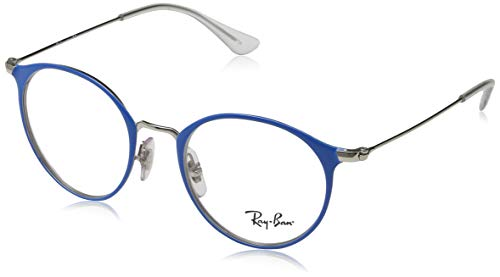 Ray-Ban Unisex-Erwachsene 0RY1053 Brillengestelle, Blau (Silver On Top Light Blue), 45