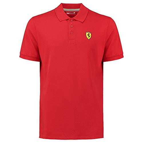 Ferrari 2018 Scuderia Herren Poloshirt, klassischer Stil, Baumwoll-Piqué, Größen XS-XL, rot, (XXL) 47 Inch Chest/EU 60-62